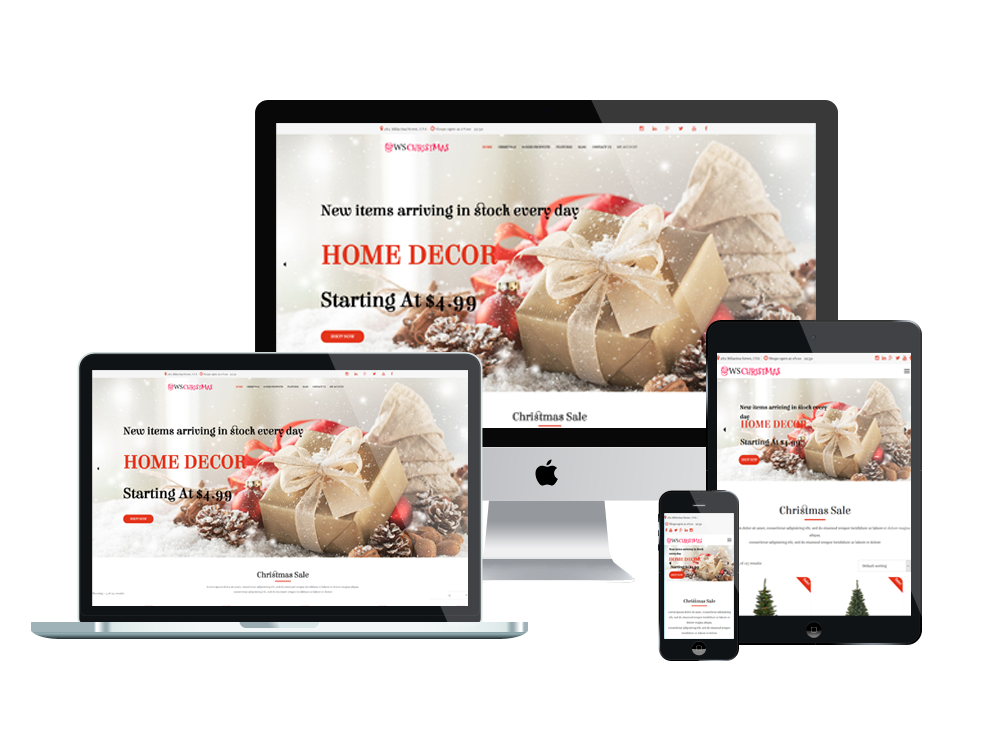 Wordpress Theme: WS Christmas – Free Responsive Christmas WooCommerce WordPress theme