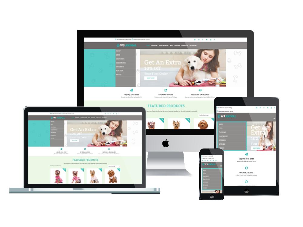 Wordpress Theme: WS Animal – Free Pet / Animal Woocommerce Wordpress Theme