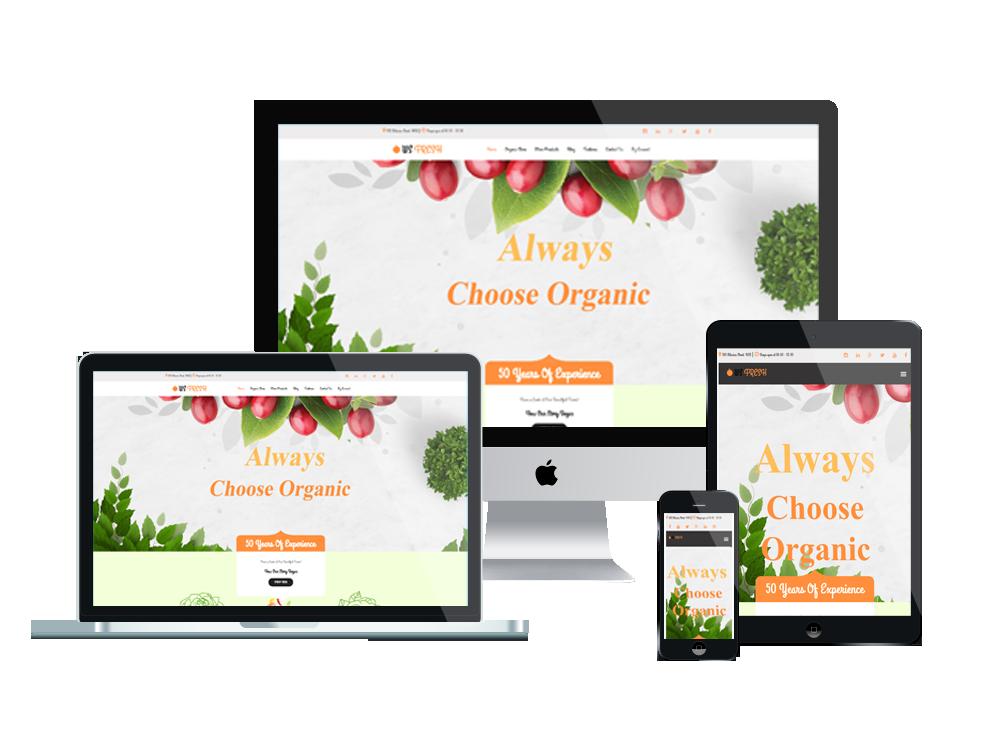 Wordpress Theme: WS Fresh – Free Responsive Agriculture Store Woocommerce Wordpress theme
