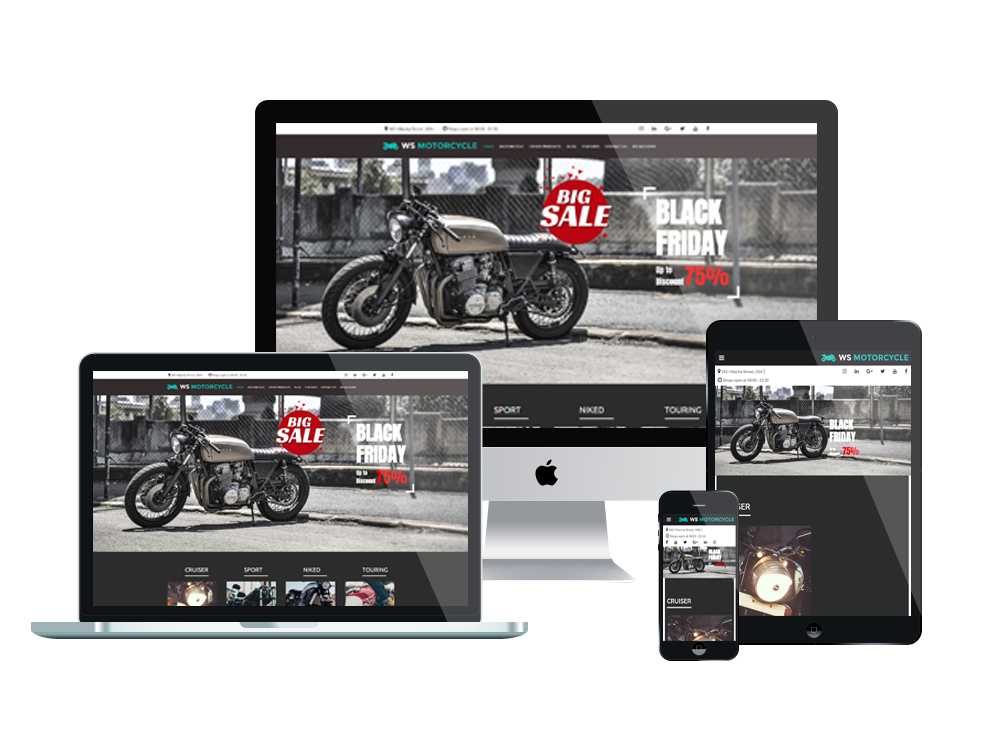 Wordpress Theme: WS Motorcycle – Free Responsive Motorbike Store Woocommerce Wordpress Theme