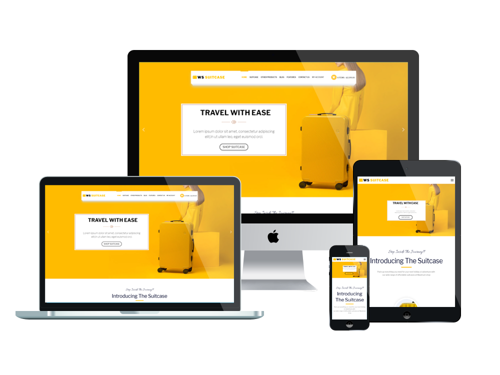 Wordpress Theme: WS Suitcase – Responsive Wordpress Travel Bag template