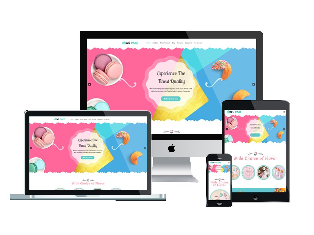Wordpress Theme: WS Cake – Responsive Cake Wordpress theme