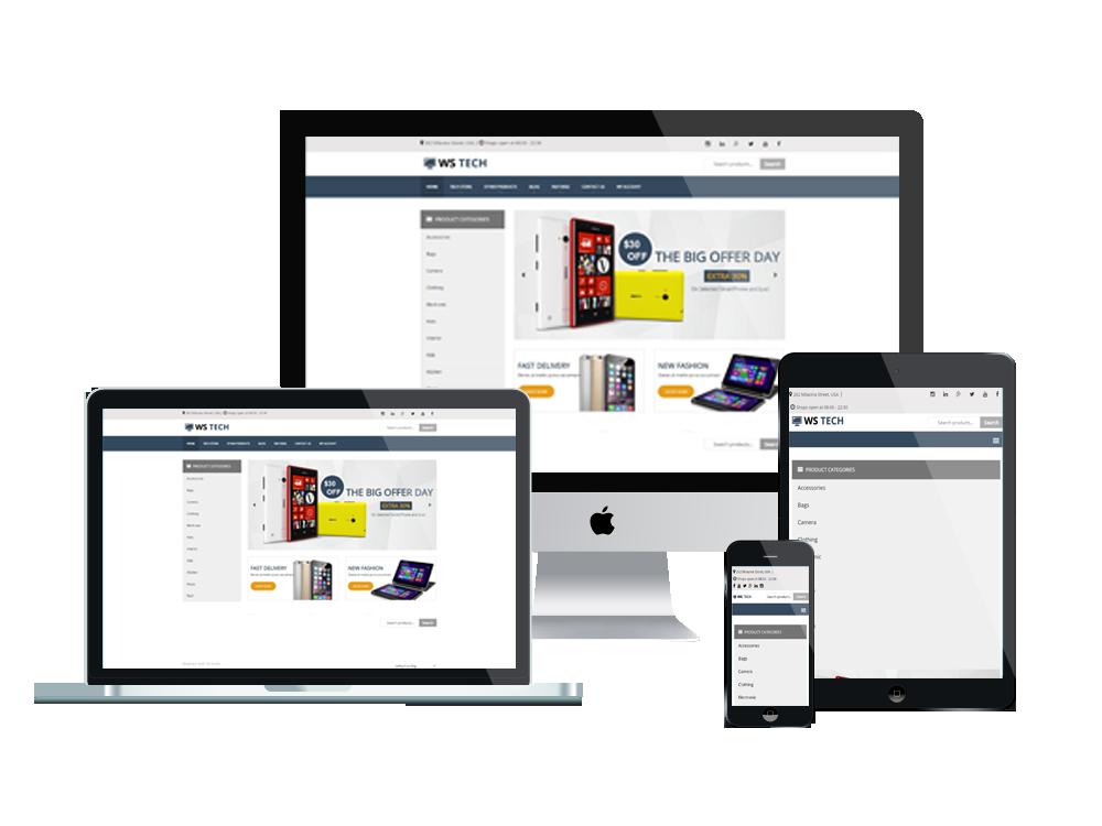 Wordpress Theme: WS Tech – Free Responsive Hi-Tech Store Woocommerce Wordpress Theme