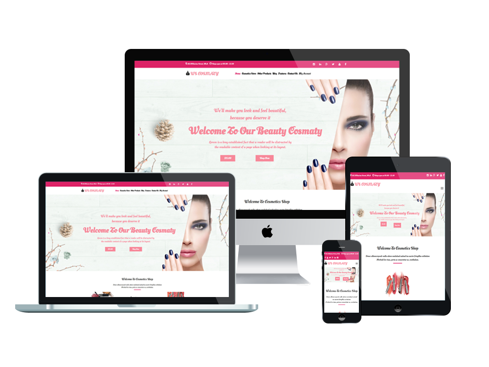Wordpress Theme: WS COSMATY – Free Responsive Cosmetics Store Woocommerce Wordpress Theme