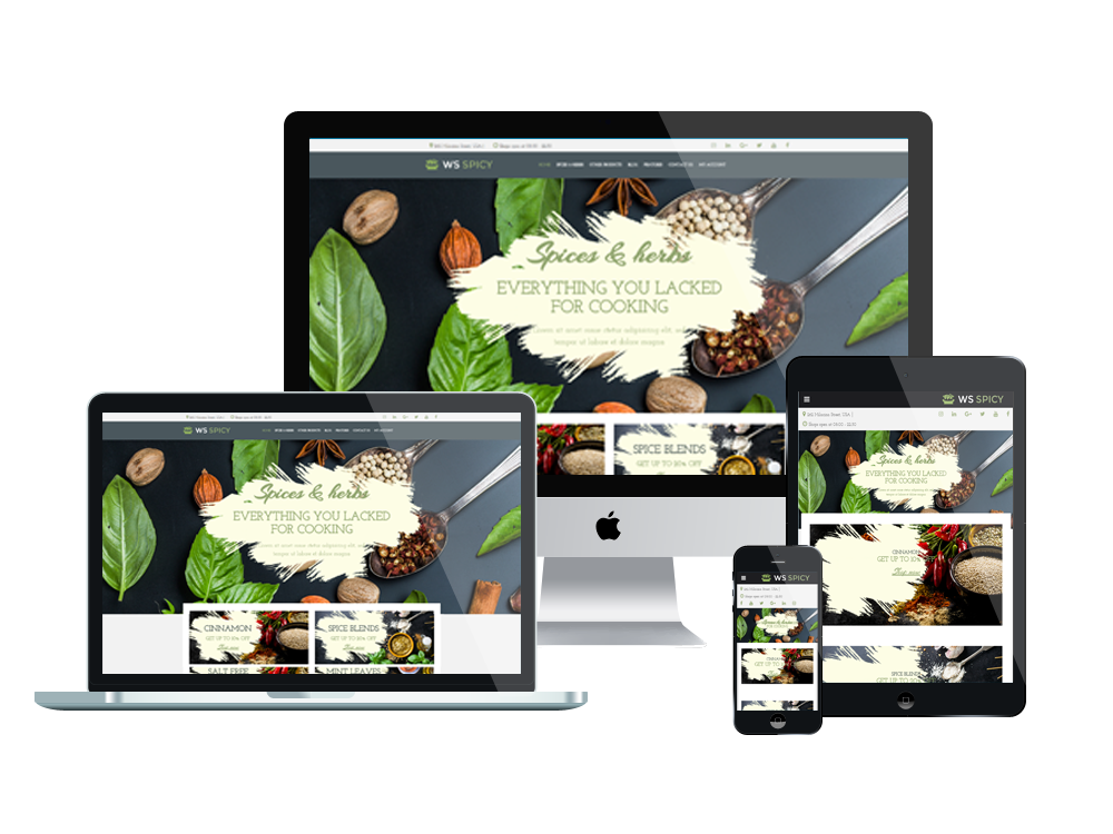 Wordpress Theme: WS SPICY – Free Responsive Spices Store Woocommerce Wordpress  Theme