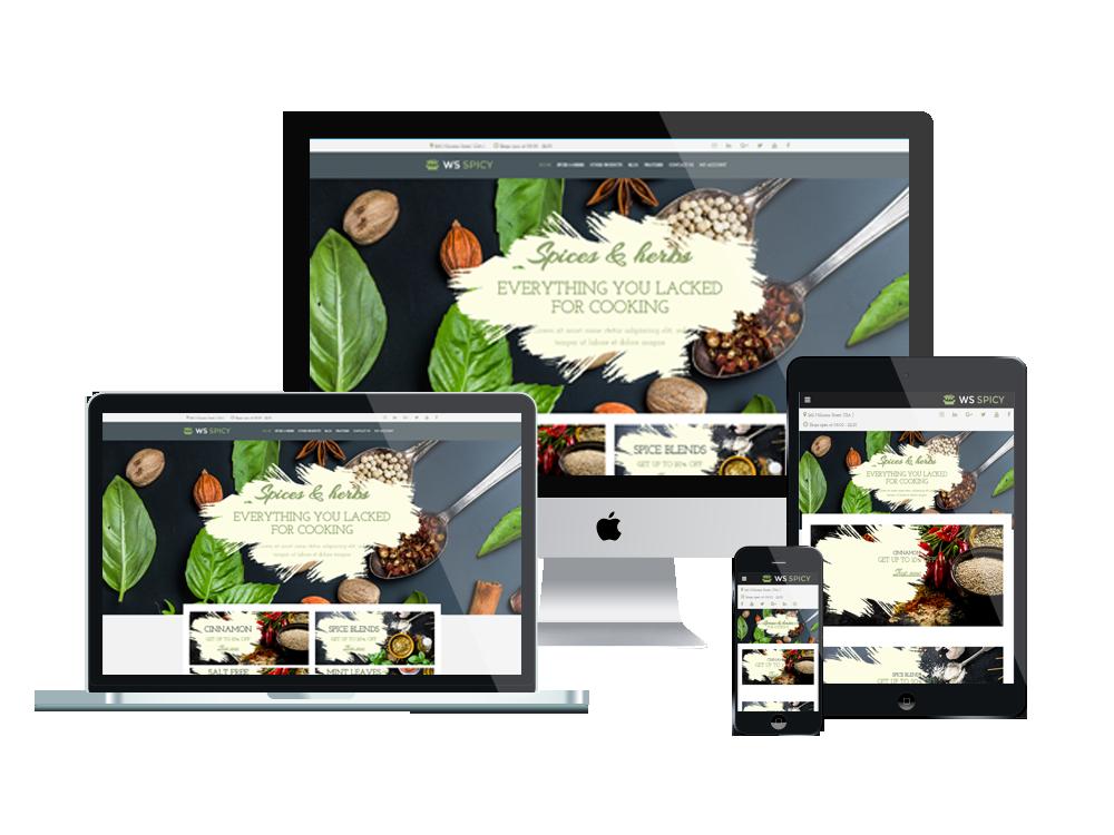 Wordpress Theme: WS SPICY – Free Responsive Spices Store Woocommerce Wordpress  Theme