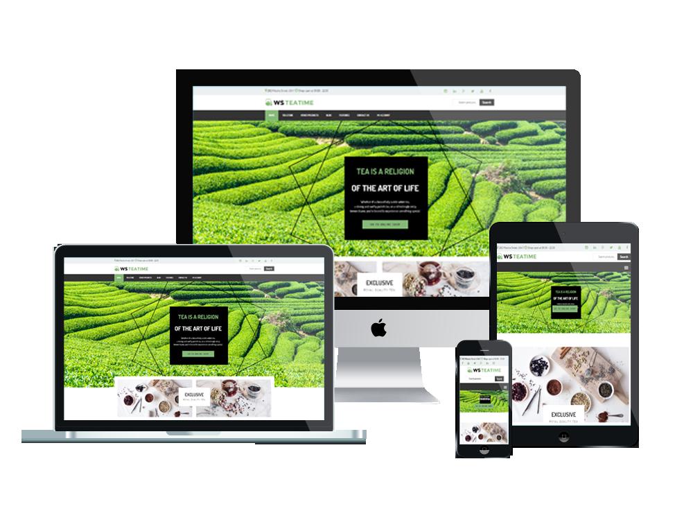 Wordpress Theme: WS Teaime – Free Responsive Tea Shop Woocommerce Wordpress Theme