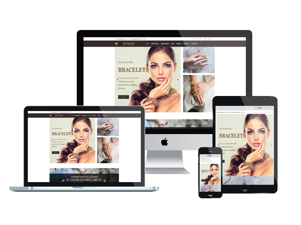 Wordpress Theme: WS Jewelry – Free Responsive DiamondI Store Woocommerce Wordpress Theme