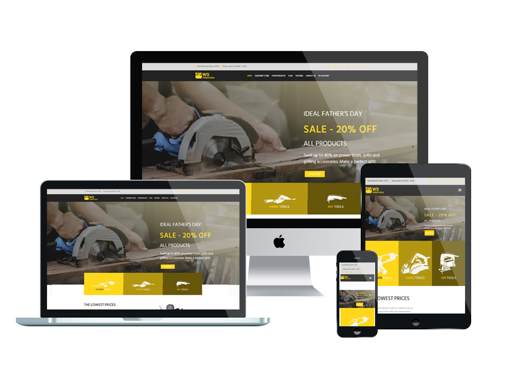 Wordpress Theme: WS Powtools – Free Responsive Tools And Equipment Store Woocommerce Wordpress Theme