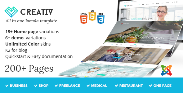 Joomla Template: Creativ - Multipurpose Joomla Template
