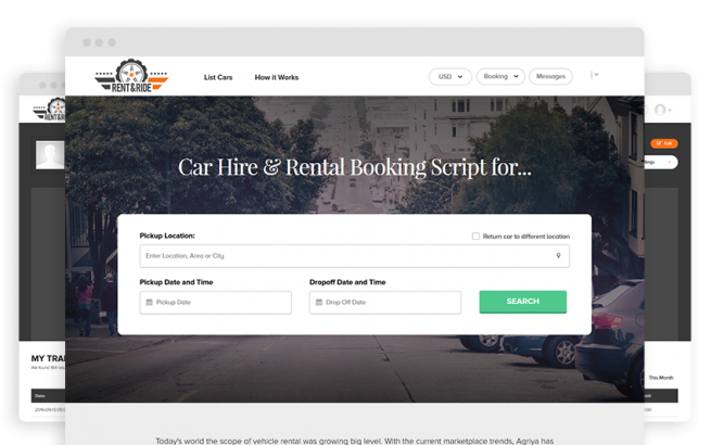 Joomla Template: Car Rental Script - Rent&Ride - Vehicle Rental Software