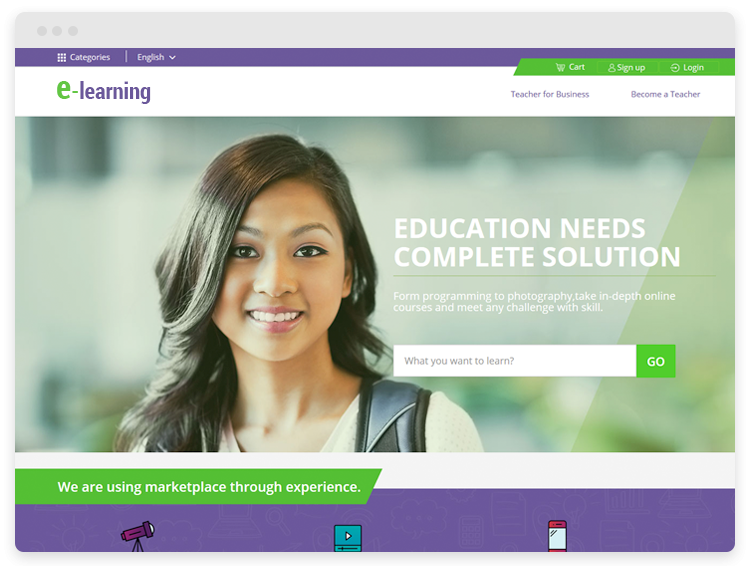 Magento Template: Online Learning Solution - Custom E-learning Solution