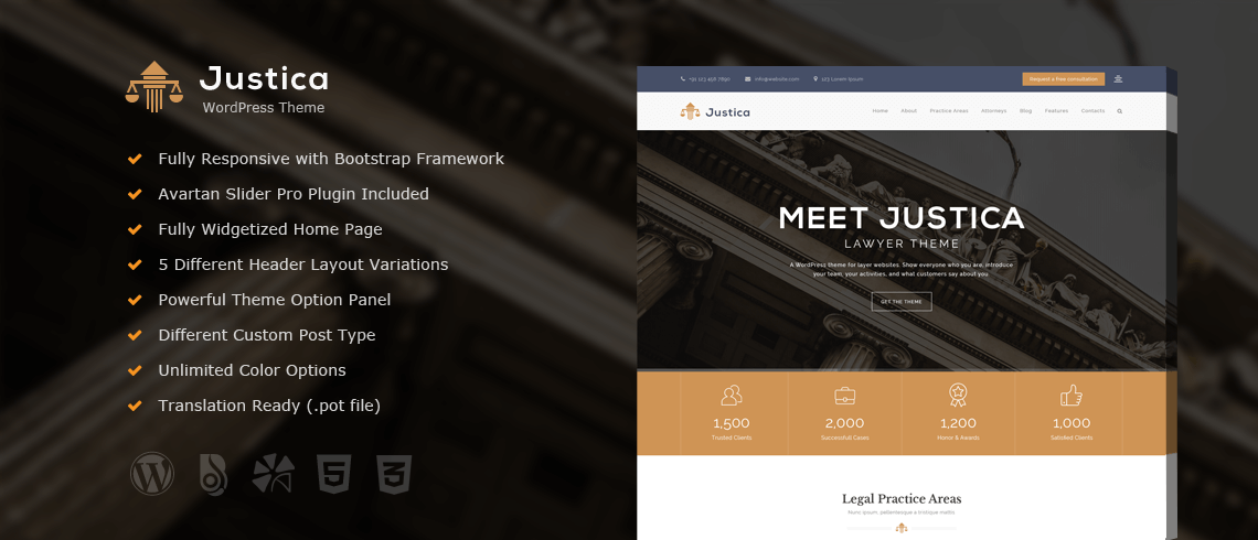 Wordpress Theme: Justica – Lawyer WordPress Theme
