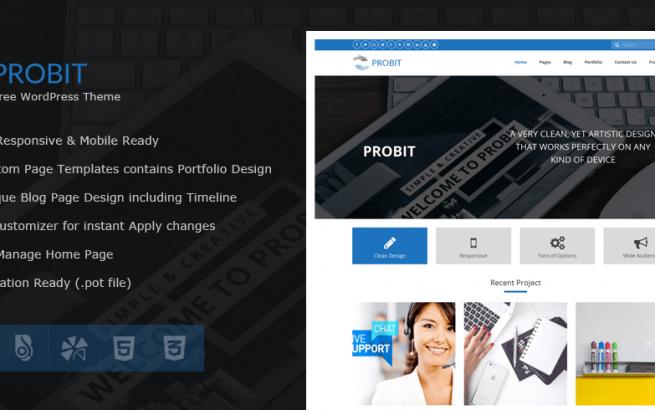 Wordpress Theme: Probit – Professional WordPress Theme