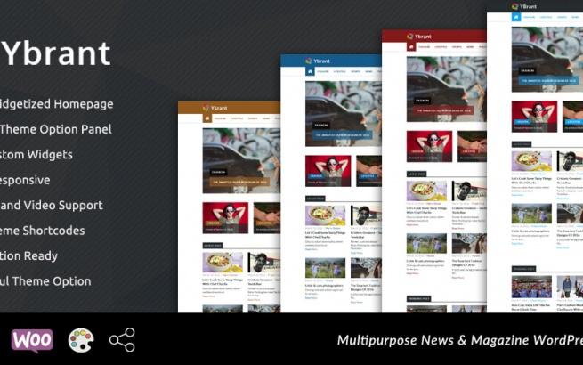 Wordpress Theme: Ybrant – News & Magazine WordPress Theme