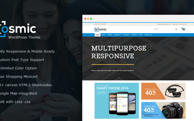 Wordpress Theme: Kosmic – Multipurpose WordPress Theme