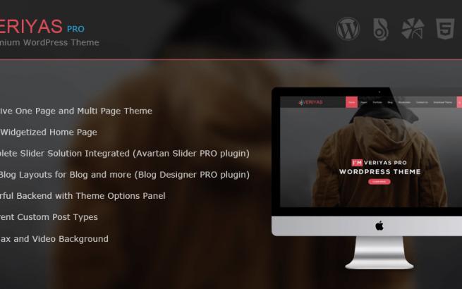 Wordpress Theme: Veriyas Pro - WordPress Corporate Theme