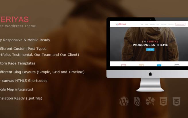 Wordpress Theme: Veriyas - Business WordPress Theme