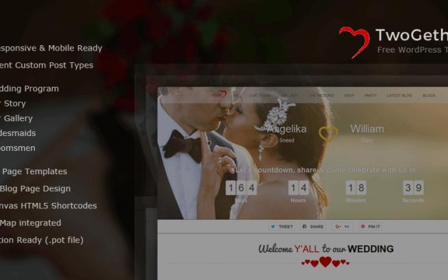 Wordpress Theme: TwoGether – Wedding WordPress Theme