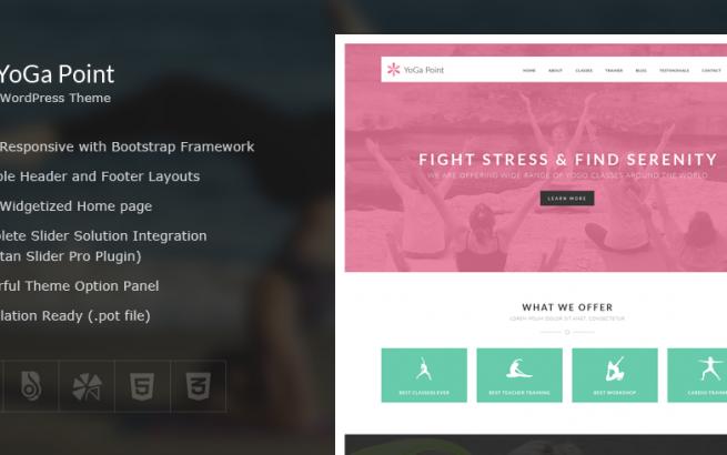 Wordpress Theme: YoGa Point – Yoga WordPress Theme