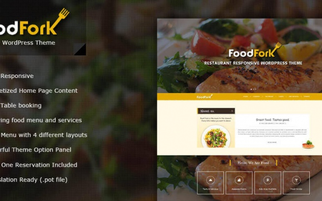 Wordpress Theme: FoodFork Restaurant WordPress Theme