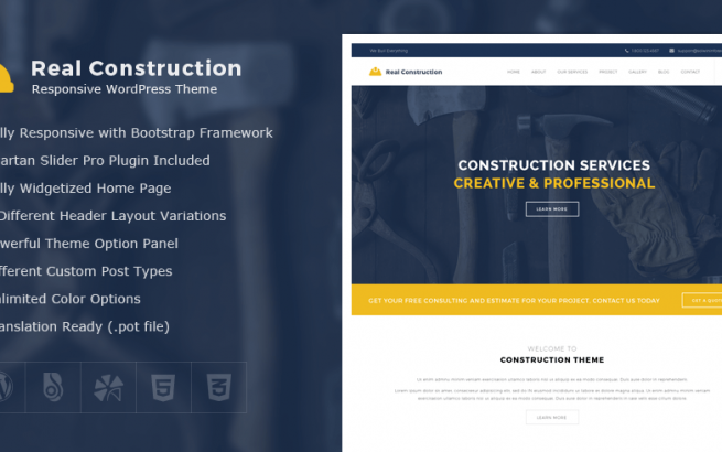 Wordpress Theme: Real Construction – Construction WordPress Theme