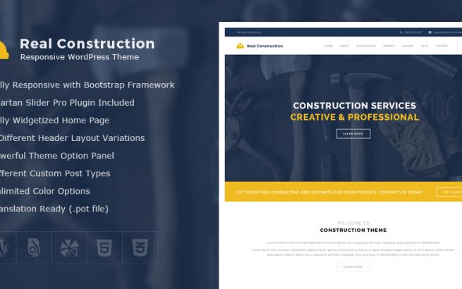 Wordpress Theme: Real Construction – Construction WordPress Theme
