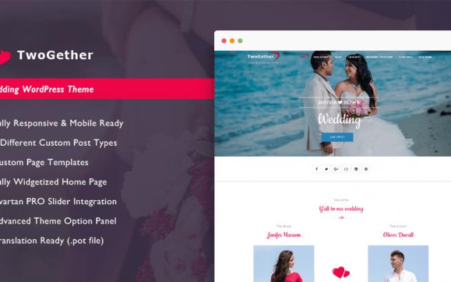 Wordpress Theme: TwoGether Pro - Wedding WordPress Theme