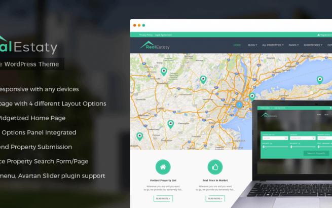 Wordpress Theme: RealEstaty – Real Estate WordPress Theme