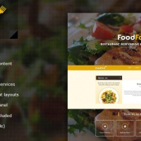 Wordpress Premium Theme - FoodFork Restaurant WordPress Theme