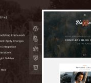 Wordpress Free Theme - Bloggers Lite – Free Responsive WordPress Blog Theme