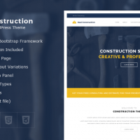 Wordpress Premium Theme - Real Construction – Construction WordPress Theme