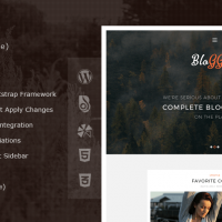 Wordpress template Bloggers (Lite) - Free WordPress Blog Theme