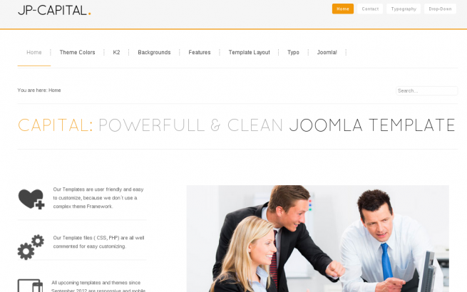 Joomla Template: Joomla Templates Capital