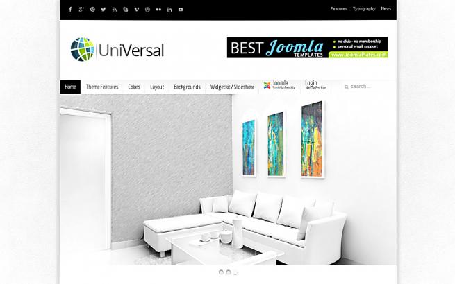 Joomla Template: Universal