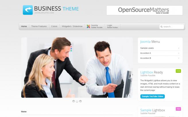 Joomla Template: Joomla Business Theme