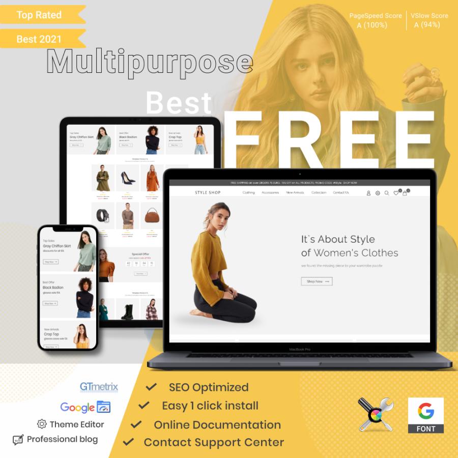 Prestashop Template: Free Prestashop Theme Style Shop - Clothes & Shoes