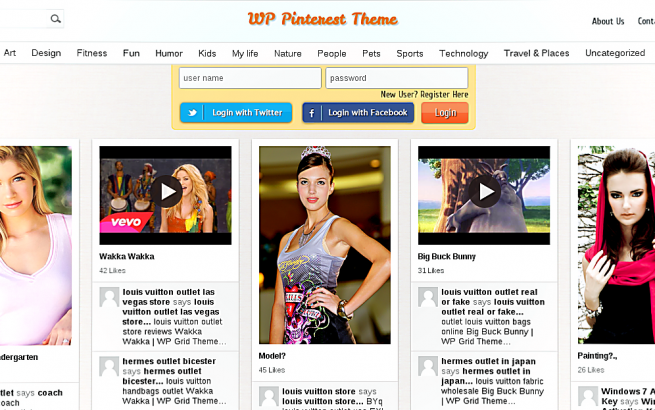 Wordpress Theme: Grid Theme