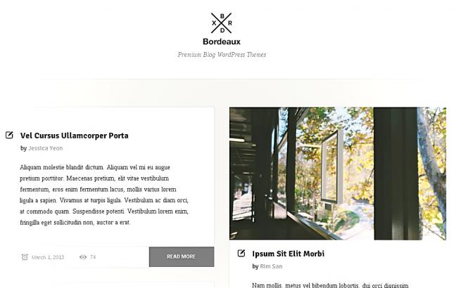 Wordpress Theme: Bordeaux