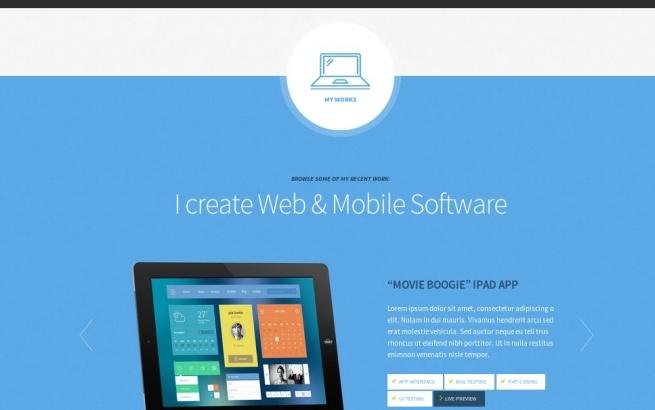 Wordpress Theme: Freelancer