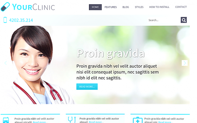 Joomla Template: Hot Clinic