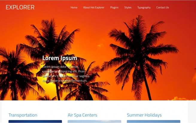 Wordpress Theme: Hot Explorer