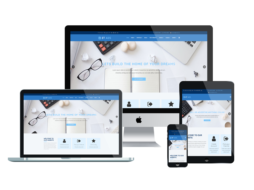 Joomla Template: ET Ads – Free Responsive Classified Ads website template
