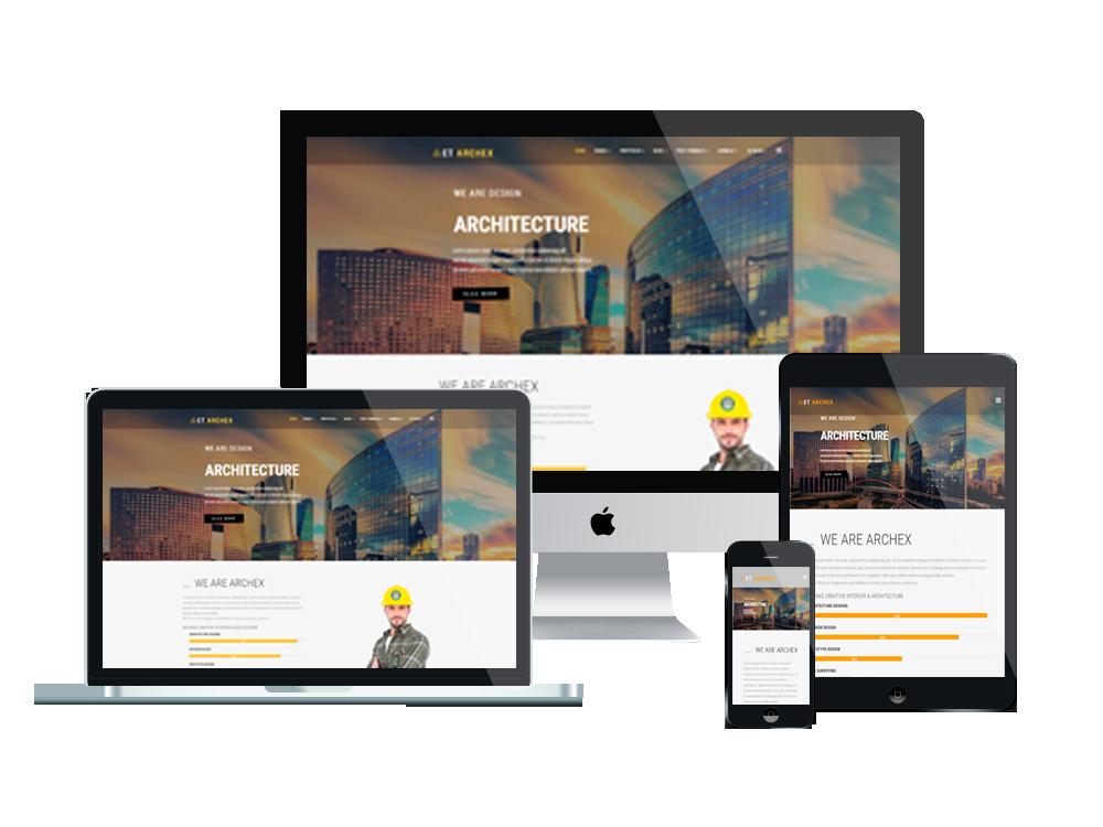 Joomla Template: ET Archex – Free Responsive Architecture Joomla! Templates