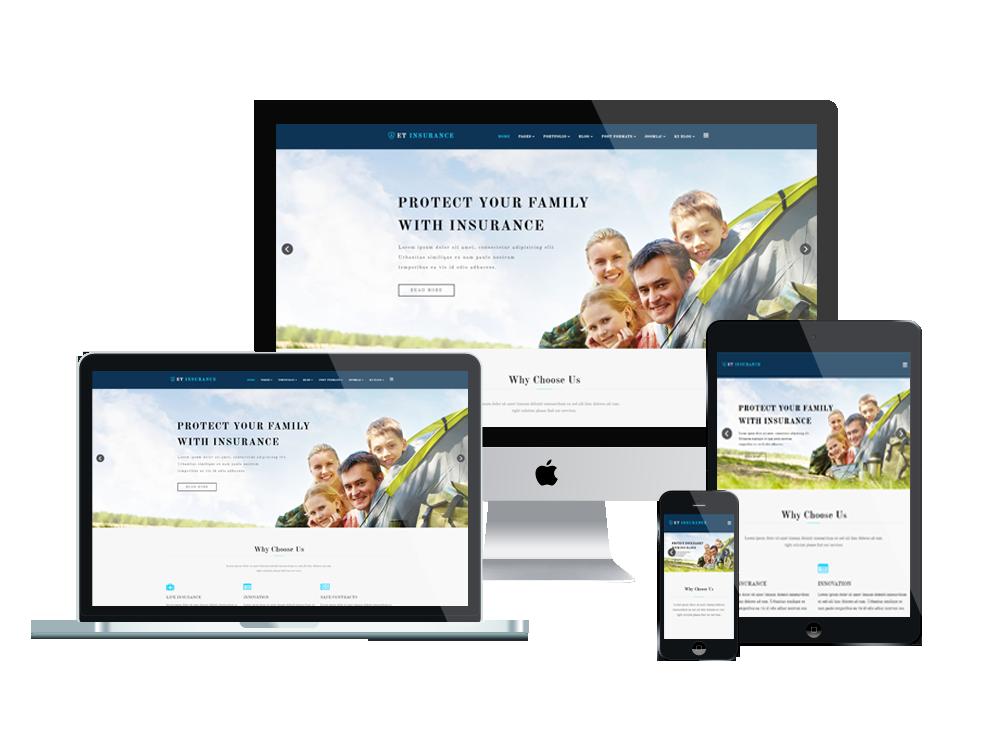 Joomla Template: ET Insurance – Free Responsive Insurance Joomla Template