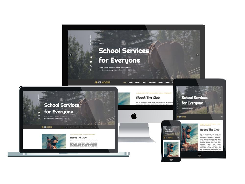 Joomla Template: ET Horse – Free Responsive Horse Joomla! Template