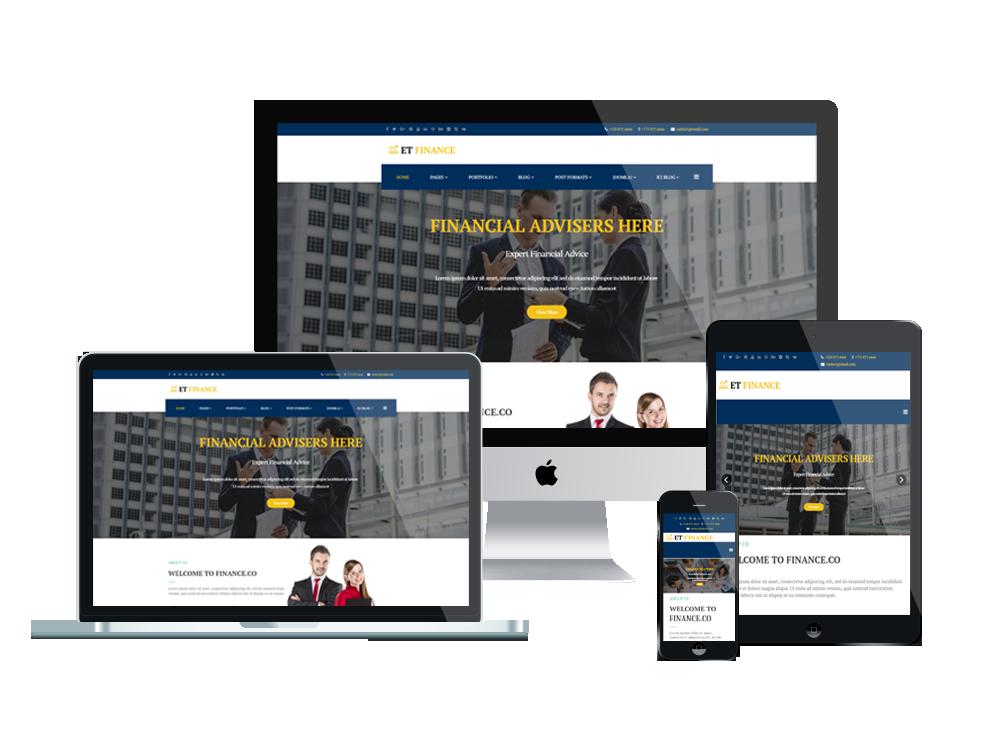 Joomla Template: ET Finance – Free Responsive Joomla Finance Template