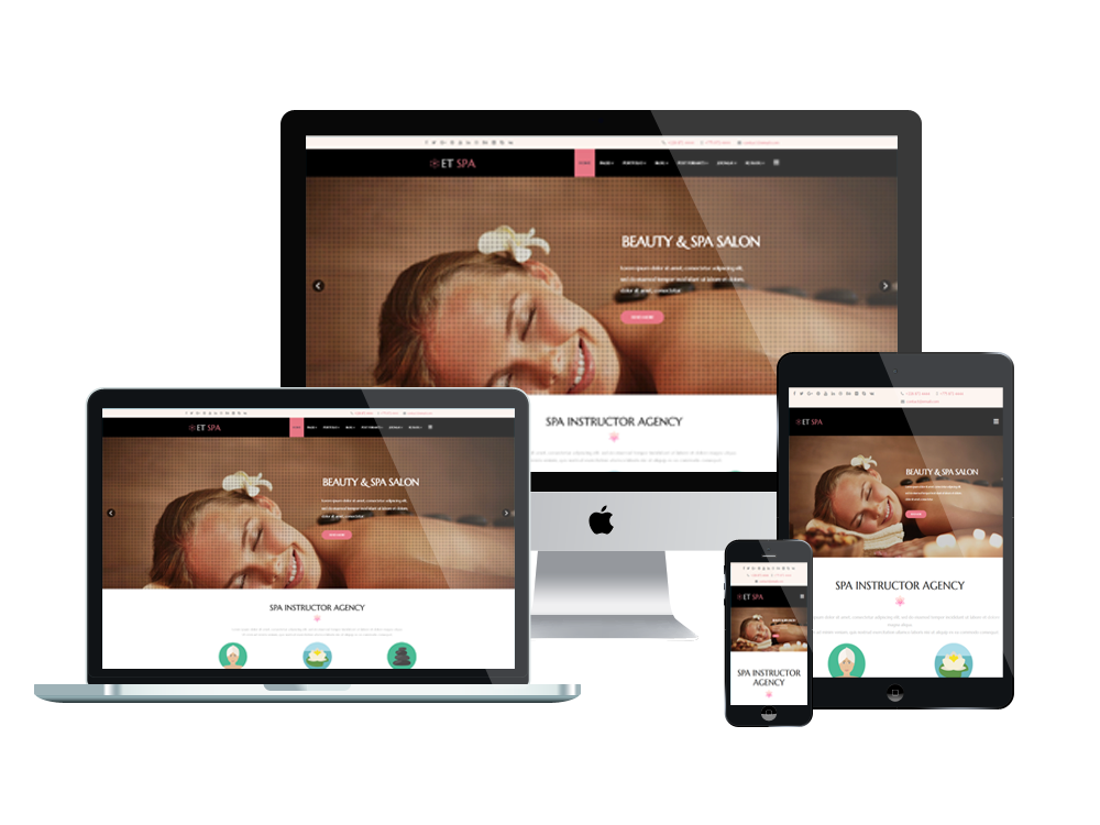 Joomla Template: ET Spa – Free Responsive Spa Website Templates