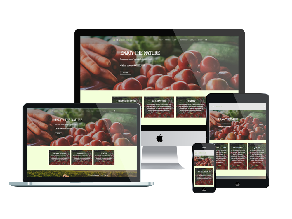 Joomla Template: ET Agriculture – Free Responsive Agriculture Website Templates