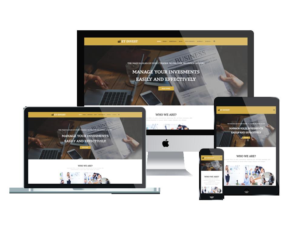 Joomla Template: ET Invest – Free Responsive Investment Joomla Template